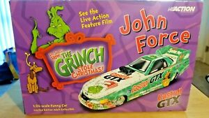 JOHN FORCE CASTROL GTX THE GRINCH ACTION  DIECAST 2001 MUSTANG 1:24 FUNNY CAR