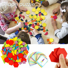 155x Wooden Creative Puzzle Jigsaw Early Learning Baby Kids Educational Toys CA