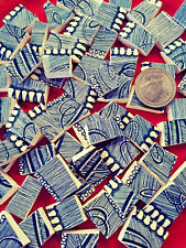 """New Listing"""" Blue Jean Denim """" 70 Broken China Plate Mosaic Tiles Currier Ives C&I Fill"""