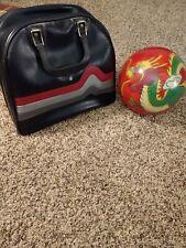 VTG OPTYX Ebonite 13 lb Bowling Ball Red Dragon Design W/ Brunswick Bag W/ Rack