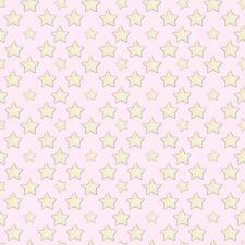 Fabric Baby Sleepy Stars Yellow on Pink Flannel 1 Yard S