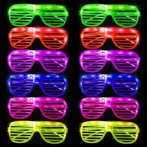 LIGHT UP, ADULTS LED GLASSES, GLOWING,PARTY AND CLUB GLASSES OVAL SHAPE GLASSES