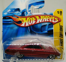 1964 Ford Galaxie 500XL #18 * Dark RED * 2007 Hot Wheels