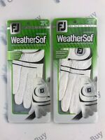 2 x FootJoy WeatherSof Ladies Golf Gloves BRAND NEW Right Hand Medium/Large