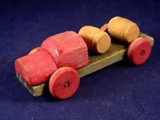 Ancien jouet bois camion miniature transport tonneaux fûts  années 20/30 Vilac ?