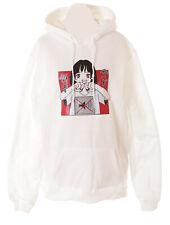 TS-237-1 White Manga Girl Sei Still Leise Pastel Goth Hoodie Sweatshirt Kawaii
