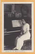 Real Photo Postcard RPPC - Woman at Beckwith Piano Sears Roebuck Chicago Music