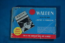 Armed Services Edition 880 Walden by Henry D. Thoreau ASE