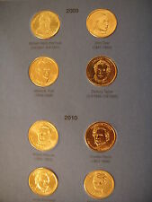 COLLECTABLE PRESIDENTIAL GOLD COLORED  DOLLARS IN COINHOLDER BOOKLET  2007-2011