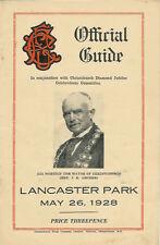 Albión, Varsity, linwood, viejos 26 de mayo 1928 Canterbury Nueva Zelanda Rugby programa