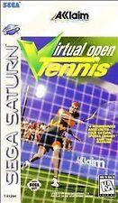 Virtual Open Tennis (Sega Saturn, 1996) Game with Manual