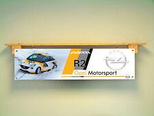 Opel Adam R2 Motorsport Rallye workshop Garage Banner