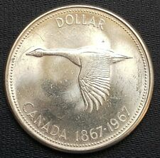 1967 Canada Silver $1 Dollar - Great Condition - 80% Silver Coin