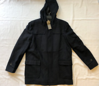 French Connection Mens Duffle Coat Marine Blue Size 2XL *Ref96