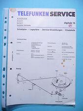 Service Manual-Anleitung für Telefunken digitale 15 ,ORIGINAL