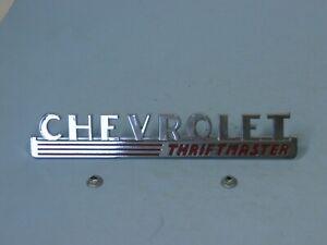 1947- 48 Chevrolet Truck Thriftmaster side hood emblem EACH