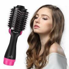 Hair Straightener Brush, Hot Air Dryer Brush One Step Hair Curling Iron Comb US