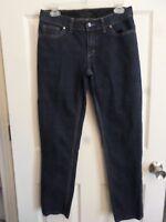 Simply Vera Vera Wang~Stretch Denim Straight Jeans~Dark Wash~Size 6~29 x 28
