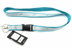 MIAMI DOLPHINS NFL Football Official Licensed Sparkle Lanyard Key Chain