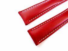 KALBSLEDERBAND rot 20/18 (110/90) speziell passend für Breitling-Faltschließen