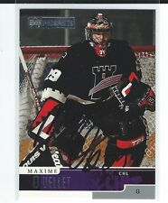 Maxime Ouellet Signed 1999/00 Upper Deck Prospects CHL Card #61