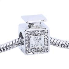 925 Silver Perfume bottle Macroporous Spacer Charm Bead For Sterling Bracelet