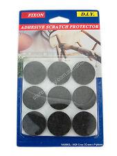 Fixon 32mm Black Felt Furniture Adhesive Scratch Protector 9 Pieces F1028