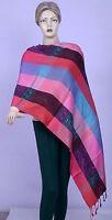 Indian Silk Paisley Print Pashmina Reversible Women Scarf Stole Shawl Neck Wrap