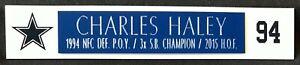 CHARLES HALEY  DALLAS COWBOYS  NAMEPLATE