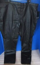 "NINE EIGHT New York~Black Faux Leather PANTS~Women's XL~Waist 37""~Inseam 28""~NWT"