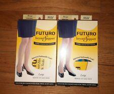 2 Futuro Energizing Sz Large BEIGE Mild Compression Ultra Sheer Pantyhose 006585