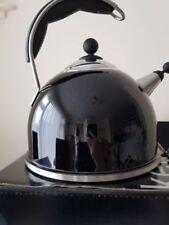 AGA Stainless Steel Whistling Kettle Black (W2824 )