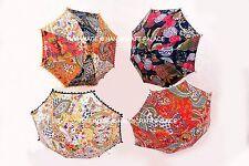 Paisley Kantha Embroidery Wholesale Lot Parasol 5 Pcs Indian Umbrella Decorative