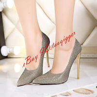 Size 34-47 Stilettos Womens Pumps Pointed Toe Sexy High Heels Party Shoes Chic