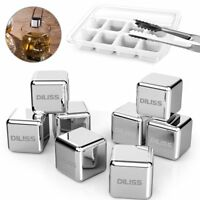 DILISS Stainless Steel Chilling Reusable Ice Cubes 8-Pack for  Liqueurs