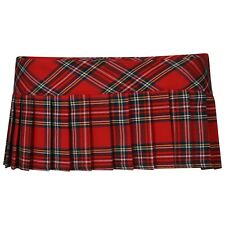 Ladies Women Tartan Check Mini Micro Pleated Skirt Sexiest 7 Inches You Can Wear Red 10