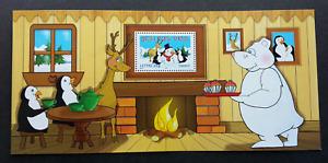 [SJ] France Best Wish 2005 Cartoon Animation Snowman Penguin (ms) MNH *non fv