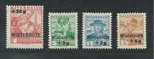 AUSTRIA # B128-131 Mint WINTER HELP