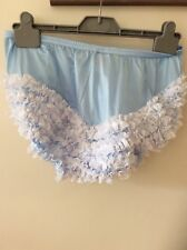 Sexy Blue with White lace  RUMBA, SISSY,SQUARE DANCE, AB  JIVE PANTIES  XXLARGE