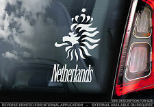 Netherlands - Car Window Sticker - The Dutch Lion Holland Football Sign Art