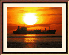 Ship At Sunrise, Exclusive Cross Stitch Kit
