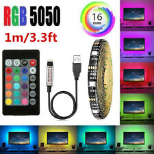 Waterproof USB Powered RGB 5050 LED Strip Lighting TV Computer Background Light