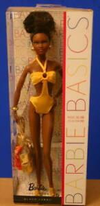 M 2011 BARBIE BASICS Black AA  Barbie doll Model 08 Collection 003 MBILI face
