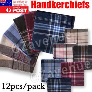 12X Mens HANDKERCHIEFS Pocket Square Hanky Handkerchief New Bulk