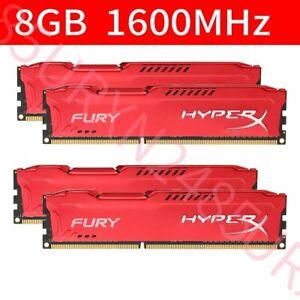 Kingston HyperX FURY 32GB 4x 8GB DDR3 1600MHz PC3-12800U DIMM Desktop Memory BT