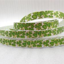 9mm St Patrick gold ribbon printed polyester ribbon DIY handmade materials
