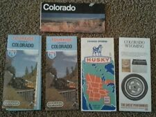 1970s Set of Vintage Colorado and Wyoming road maps