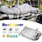 14-22ft Trailerable Boat Cover Waterproof Uv Protector Fishing Speedboat Z6i2