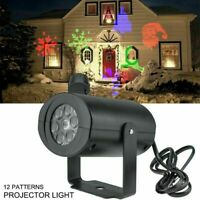 12 Patterns LED Christmas Laser Projector Lights Outdoor Garden Xmas Decor NEW