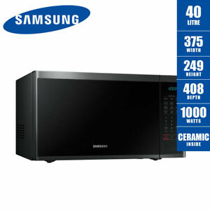 SAMSUNG Microwave Oven 40 Litre Black Stainless Steel Ceramic MS40J5133BG 1000W